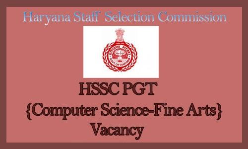 HSSC PGT Teacher Recruitment 2018