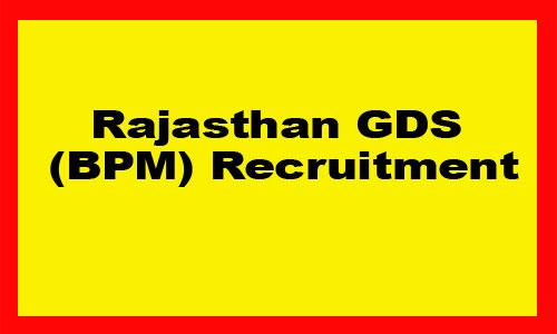 Rajasthan GDS BPM Recruitment 2019