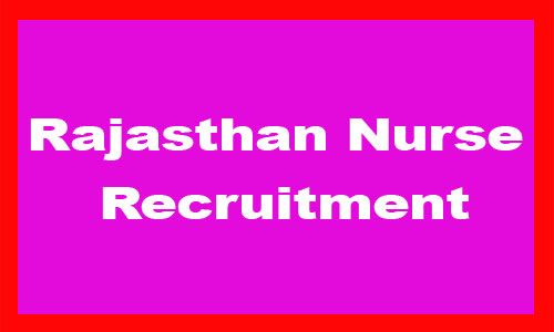 Rajasthan Nurse Recruitment 2020