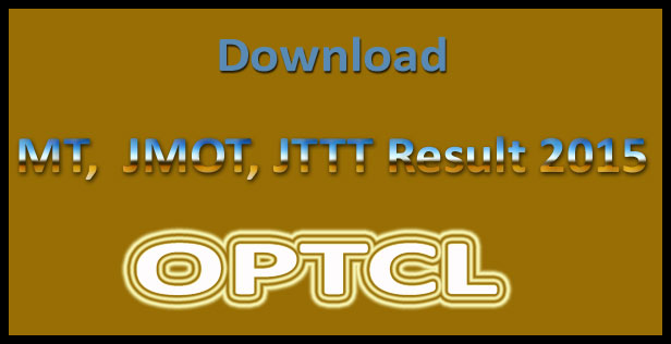 OPTCL MT result 2015