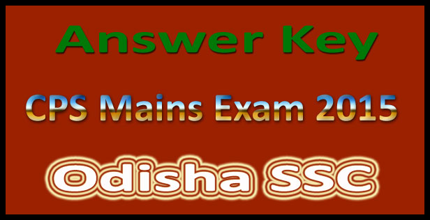 OSSC CPS Answer key 2015