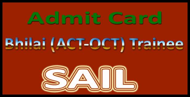 SAIL oct admit card 2015