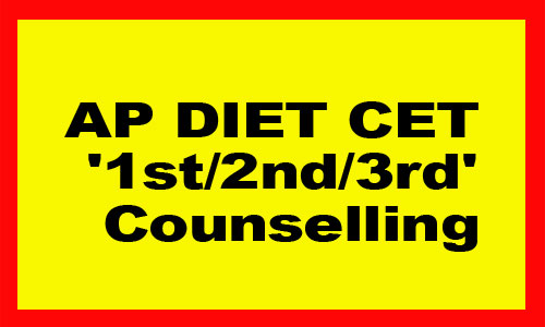 AP DIET CET 1st 2nd3rd Counselling