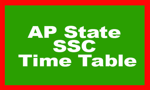 AP State SSC Time Table 2020