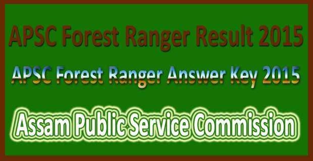 APSC forest ranger answer key 2015
