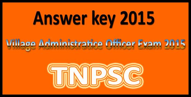 TNPSC VAO answer key 2016