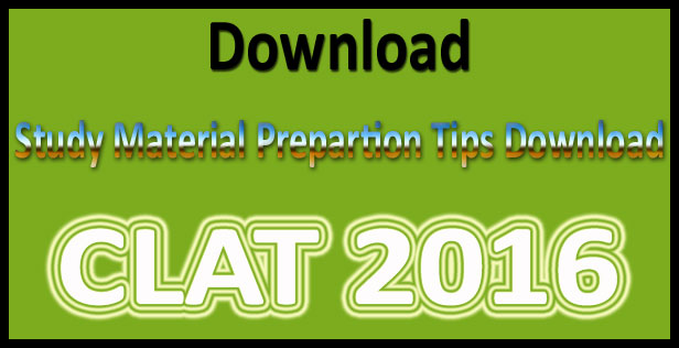 CLAT study material 2017