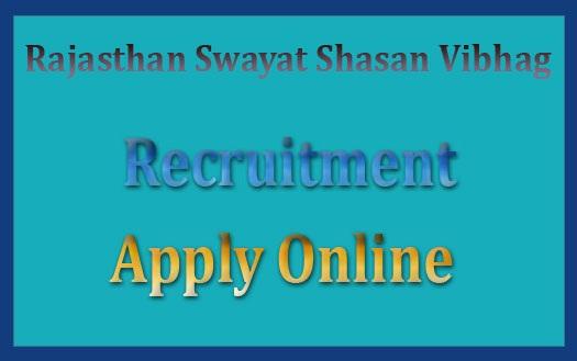 Rajasthan Swayat Shasan Vibhag Recruitment 2018