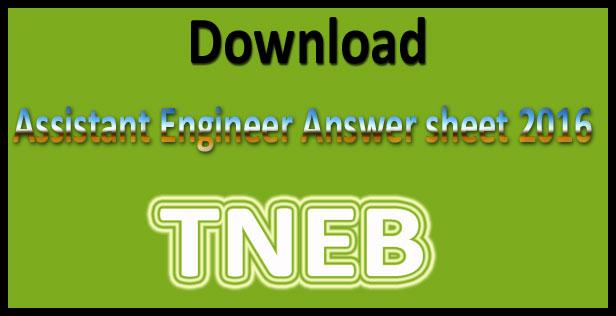 TANGEDCO AE answer key 2016