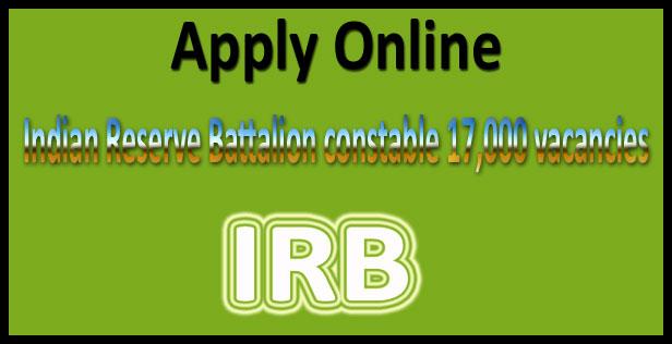 IRB Recruitment 2018