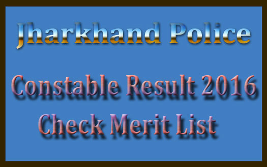 Jharkhand police result 2016