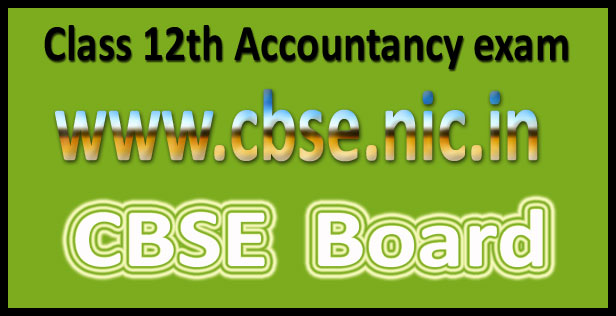 CBSE 12th accountancy question paper 2016