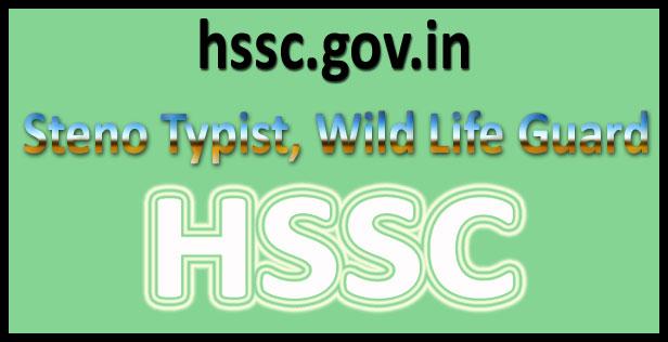 HSSC steno typist admit card 2016