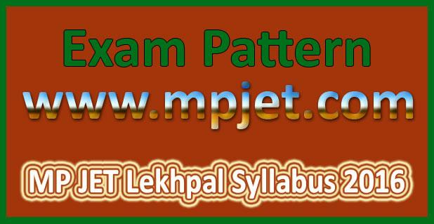 MP JET Lekhpal Syllabus 2016