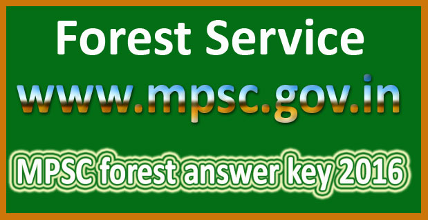MPSC forest answer key 2016