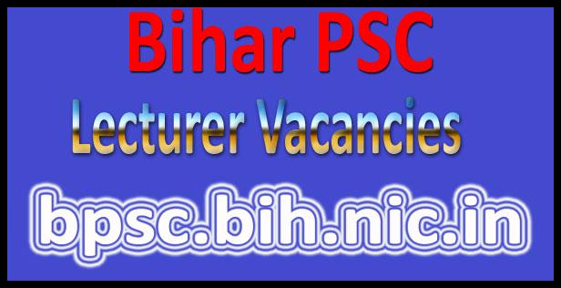 Bihar PSC lecturer recruitment 2016