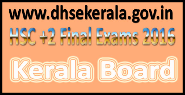 Kerala State Plus Two Results 2016