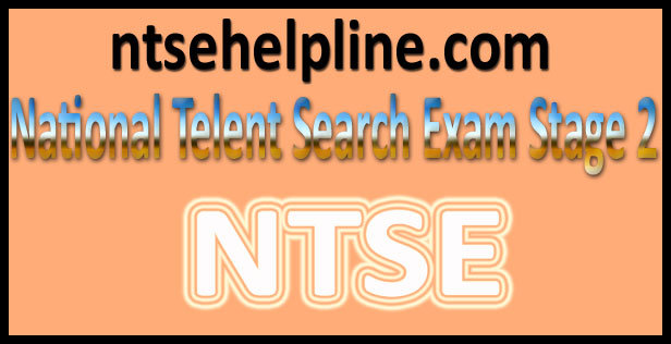 NTSE Stage 2 Results 2018