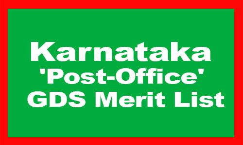 Karnataka Post Office GDS Merit List