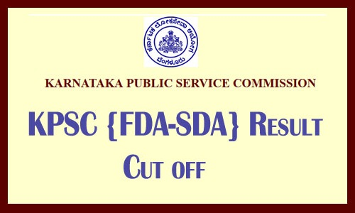 KPSC FDA result 2019