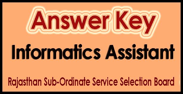 RSMSSB Informatics Assistant Answer Key 2018
