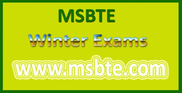 MSBTE Timetable Winter 2019