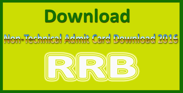 RRB non technical admit card 2019